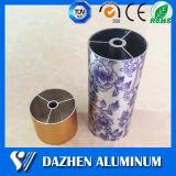 Grand dos en aluminium en aluminium d'alliage d'extrusion/rond anodisé/plat/profil ovale de tube