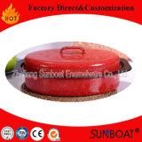 Эмаль посуда Roaster Sunboat среднего размера Chickenware овальной формы