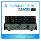 DVB S2X + DVB S2 + de satélite H. 265 de DVB T2/C o receptor o mais novo Zgemma H5.2s+ da tevê