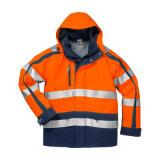 防水高い可視性の反射冬の暖かい安全ジャケット