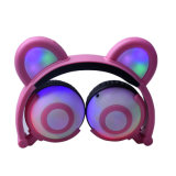 新しいモデルのLinxのFoldable終わる耳の白熱LEDパンダのヘッドホーン