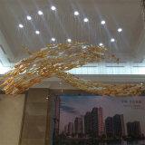 현대 장식적인 유리제 스테인리스 물고기 모양 펀던트 램프