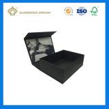 En Paquete plano rígido plegable caja de embalaje de papel (con un fuerte cierre magnético)
