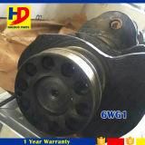 eixo de manivela 6wg1 para o jogo do motor Diesel da máquina escavadora