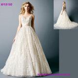 Роскошное платье венчания Princess Невесты Bridal Одевать Мантии платья венчания мантии шарика шнурка