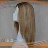Spitzenverkaufenblondes Menschenhaar-verkaufender Silk Spitzenperücke-Spitzentyp Sheitel Perücken der art-100%
