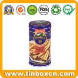 Круглое печенье олова может с качеством еды, коробкой олова печенья