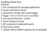 Пневматическая пушка расчеканки Jp-Jqc-020s воздуха инструментов 374mm