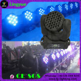 CE RoHS 36pcs luces LED 3W lavar moviendo la cabeza