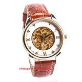 Het Grootmoedige Mechanische Horloge van de manier voor Mensen met de Band Fs454 van het Leer Gunine