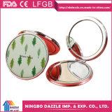 Preiswerte PU-kompakte kosmetische Tasche bilden Spiegel