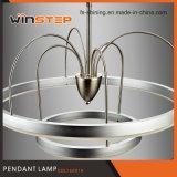 卸し売り3000kアルミニウムアクリルの照明二重リングLEDのペンダント灯