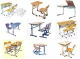 2人のための現代学校学生の机椅子