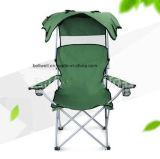 Réglable de la pêche de loisirs de pliage de plein air Camping chaise de plage avec Sun Président de la pêche de l'auvent
