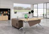 Modernes MDF-Melamin-hölzerne Büro-Tisch-Form-Büro-Möbel (HF-FB2126A)