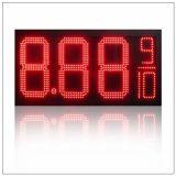 """7つのセグメントオイルまたはガス燃料の/Dieselの緑12デジタル8つの"""" 8.889/10の番号LEDガスまたはオイルまたはガソリンスタンドの価格の表示印のボードスクリーン"""