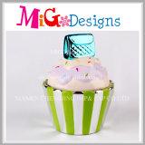 子供の貯金箱のためのカップケーキの多彩な陶磁器のギフト