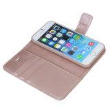 Caisse en cuir de pochette d'unité centrale avec la caisse mince d'aimant détachable pour le cas de l'iPhone 7