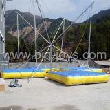 遊園地の子供の販売(BJ-BU07)のための膨脹可能なバンジーのトランポリン