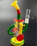 Tubo di acqua di vetro saltato mano variopinta impressionante del riciclatore del Borosilicate di Gldg con la grande funzione