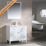 Cabina moderna del baño de madera sólida de Fed-1961A del baño del negro moderno de la vanidad