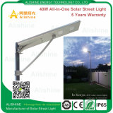 40W太陽電池パネル、コントローラおよび電池が付いている太陽街灯