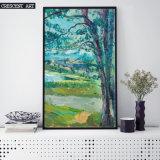 Pintura al óleo grande del árbol del arte de la pared del campo del campo