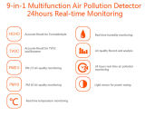 6-in-1 air quality Detector for Hcho & Tvoc & Pm2.5/Pm10 & Temperature & Humidity