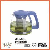Wschas035 comerciano il POT all'ingrosso del tè di vetro di Borosilicate con la maniglia