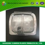 蝶番を付けられたプラスチック食糧を取るトーゴのクラムシェルの容器を取り除きなさい