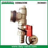 OEM&ODM Qualitätsnickel überzogenes Messingabfluss-Kugelventil (AV1050)
