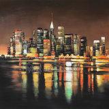 Met de hand gemaakt Olieverfschilderij op Canvas voor Buildings