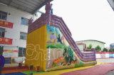 膨脹可能な価格のDinosauの安い城は乾燥する販売(CHSL644)のためのスライドを