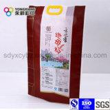 Größe passte Reis lamellierten PA Kunststoffgehäuse-Beutel mit Griff an