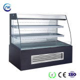 Showcase do bolo da parte dianteira/refrigerador abertos indicador do sanduíche com cortina do vento (K750AN-M2)