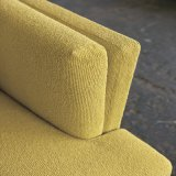 Sofà giallo del tessuto di modo con 3 sedi (F720-6)