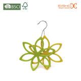 Красотка формы цветка Flocked вешалка бархата