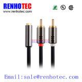 Handelscomputeranwendung 3.5mm bis männlicher Stecker-Stereoaudiokabel RCA-2