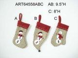 Bonhomme de neige de décoration de Noël avec les bras de fil, 3asst