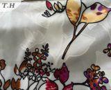 2016 flores y tela del terciopelo de la raya en 300GSM (FEP011)