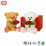 De Teddybeer van de Moederdag met het Stuk speelgoed van de Pluche van de Gift van de Bloem van het Hart