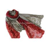 Poliéster teñió bufanda de encaje bordado (AJC10021345)