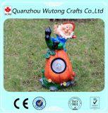 Indicatore luminoso solare di seduta di Gnome della nuova di disegno del giardino resina della decorazione