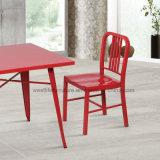 Klassische Metallmarine-seitlicher Stuhl