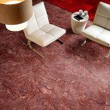 Azulejo de suelo de mármol rojo de la copia de la inyección de tinta con 600X600m m Polished por completo esmaltados