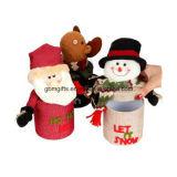 Santa Claus e Snowman Felt Christmas Decoração de casa como presentes