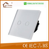 Interruptor da parede, interruptor leve de controle remoto de 2gang 1way, AC220V