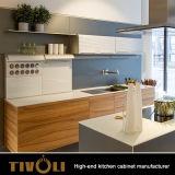 Armadietti di legno della cucina per i Governi di legno su ordinazione Tivo-0094h