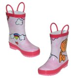 Natural Colorful Hand Paint Rubber Children Winter Rain Boots