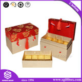 Пожеланная коробка подарка чая картона тесемки возникновения упаковывая